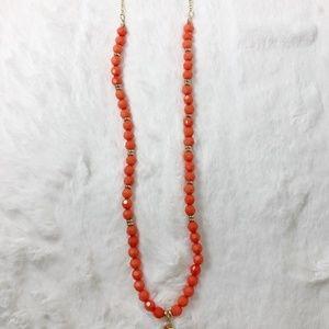 Jewelry - AA-26: NWT orange tassel necklace